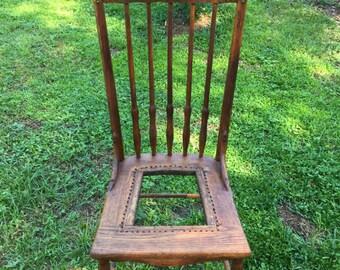 Antique Oak Chair Handmade