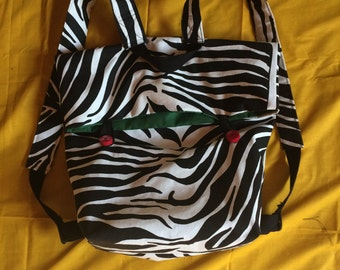 Backpack tote bag Zebra