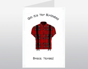 Scottish Birthday Card Braces WWBI91