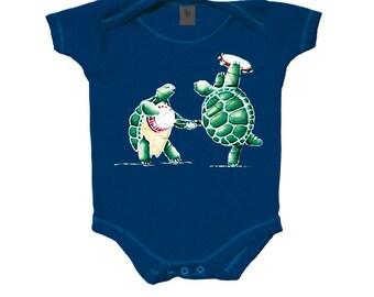 Grateful Dead Terrapin Station Baby One Piece body suit/ Snap up/ Turtles/ Banjo/ Onesie/creeper/romper