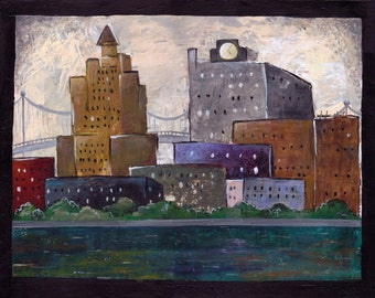 City of Five Years--Original Artwork