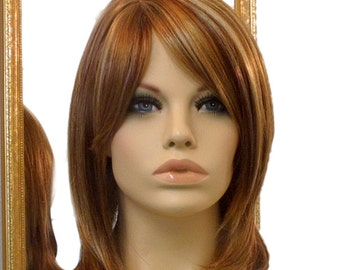 Forever Young Delectable Doll Wig (Color RS29 Strawberry Blonde) Natural Hair | Short Wig | Layered Wig with Bangs