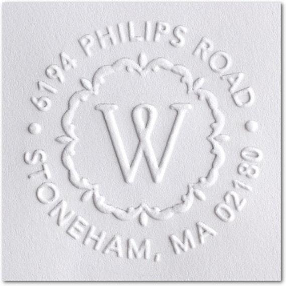 Custom term paper embosser stamp