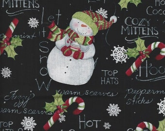 Hooray for Snowman,happy,smile,Hot Chocolate,Springs fabrics,christmas