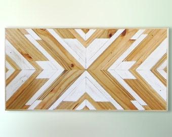 Wood Wall Art ~ Reclaimed Wood Wall Art ~ Wall Art ~ Wooden Wall Art ~ Geometric Wood Wall Art ~ Wooden Artwork ~ Wood Wall Decor