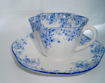 Shelley Dainty Blue Tea Cup & Saucer
