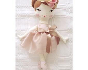 """Ginger 19"""" Big Handmaded Rag Doll"""