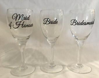Wedding Party Diy Wine Glass Decal Sticker