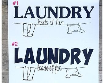 Laundry room door decal/sticker