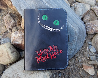 leather kindle case, Alice in Wonderland, Cheshire cat