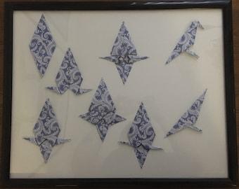 Step by step origami crow