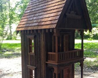 Handmade Artisan Cypress Dollhouse - reclaimed from 1800 plantation