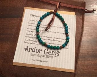 Chrysocolla bracelet Harmony & Purification M