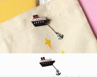 boat pin anchors pins cute pin creative brooch pin metal pins Lapel Pin Brooch Planet
