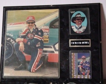 Richard Petty photo and card plaque
