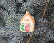 Vintage Christmas Ornament Soviet Handmade Glas Christmas Ornament Rare Christmas Tree Decor