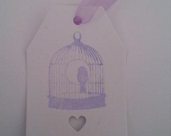 Wedding Birdcage Tag