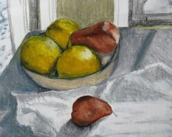 Pears and Grapefuit Still Life