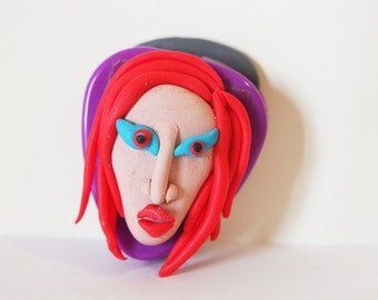 PORTAPLETTRO MANSON, Guitar Pick Holder Marylin Manson Mechanical Animals