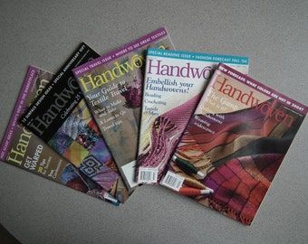 "Vintage Collection  - ""HANDWOVEN"" Magazine. All 5 issues from year 2004"