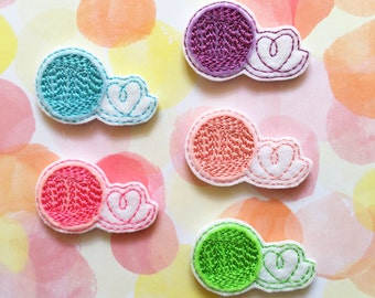 Felties, Yarn Felties, Crochet Felties, Knitting Felties, Felt Applique