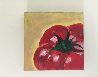 cute small painting for kitchen of tomato