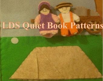 Quiet Book Patterns - LDS Quiet Book Patterns - Pioneer Children Sang as They Walked