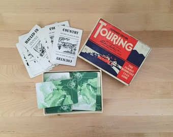 Vintage 1947 Touring Game, Famous Automobile Card Game Parker Brothers Improved Edition