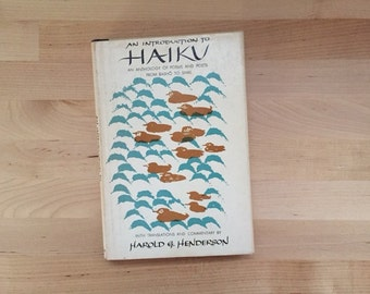 Vintage 1958 First Edition A Introduction to Haiku, Harold G. Henderson Hardcover