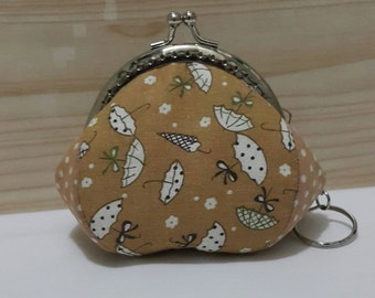 Coin Purse With Key Ring (Cotton Fabric & Metal Frame)