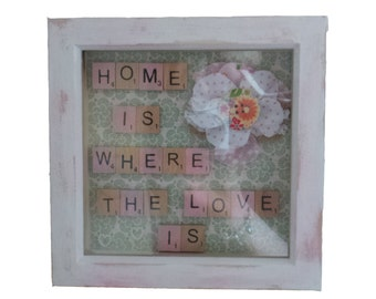 home is where the love is shabby chic frame
