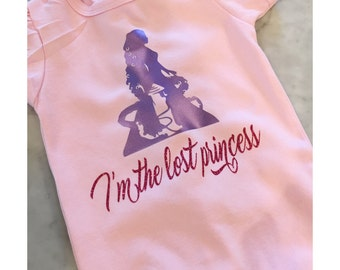 I'm the lost princess Tangled/Rapunzel inspired onesie