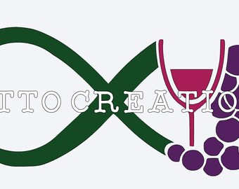An Infinity Wine and Grapes SVG design