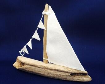 Small Driftwood Sailboat