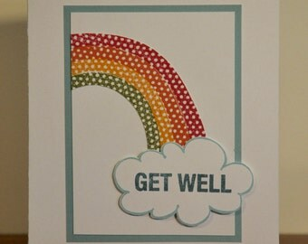 Get Well Rainbow Note Card
