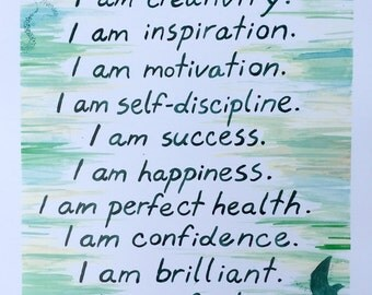 Watercolor Affirmations (Print)