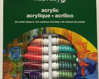 Acrylic Colours, Set of 24 - 10ml Paints made by Reeves