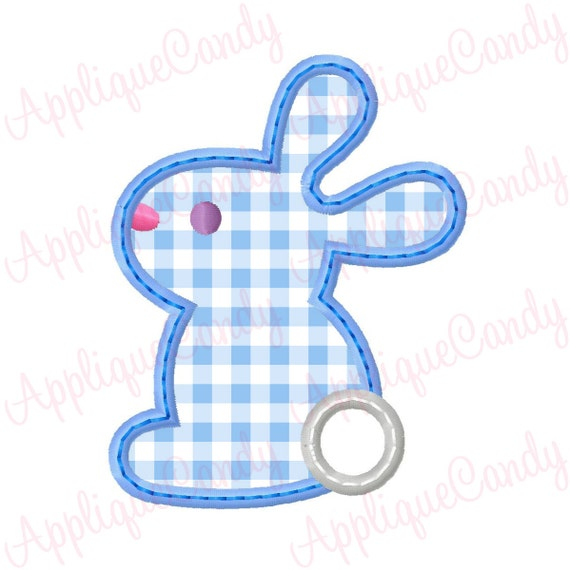 Bunny rabbit applique embroidery design by