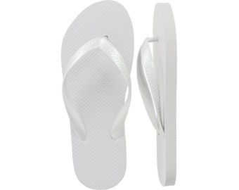 White Flip Flops - 14 Pairs XL Only