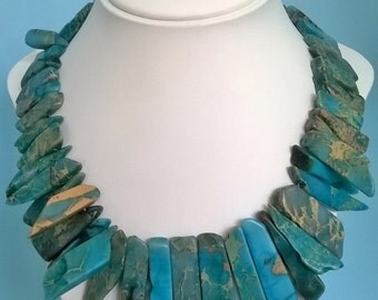 Blue Howlite Necklace