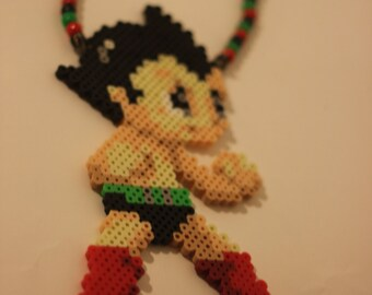Astro Boy perler necklaces or magnet