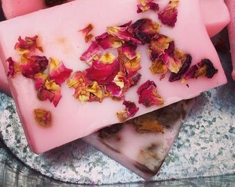 Strawberry & Rose SLS Free soap bar.