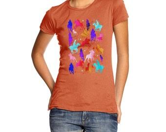 Women's Polo Rainbow Collage T-Shirt