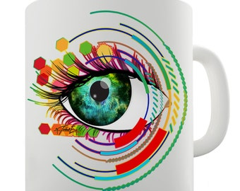 Abstract Eye Art Ceramic Mug