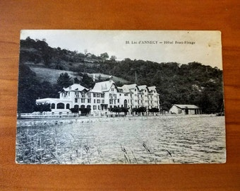 Vintage Postcard, Unused - Lac d'Annecy - Hotel Beau-Rivage, 1920s