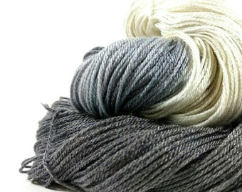 Super Silky Superwash Merino Tencel Sock Yarn - Iceberg - Slate Grey -  Hand Dyed -  Luxurious - Hand Painted