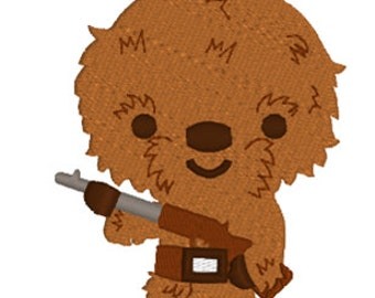 SALE   Star Wars Chewbacca Machine Embroidery Design