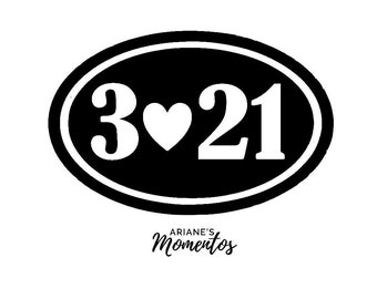 Down Syndrome Vinyl Decal - 3.21