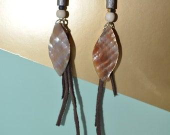 Boho Faux Leather Earrings