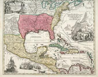 Regni Mexicani seu Novae Hispaniae, Floridae, Novae Angliae, Carolinae, Virginiae et Pensylvaniae 1759